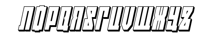 EAST-west 3D Italic Font UPPERCASE