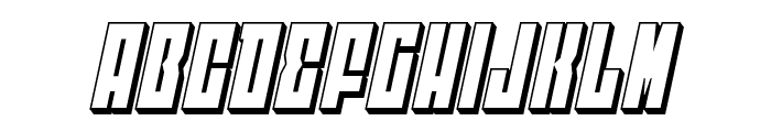 EAST-west 3D Italic Font LOWERCASE