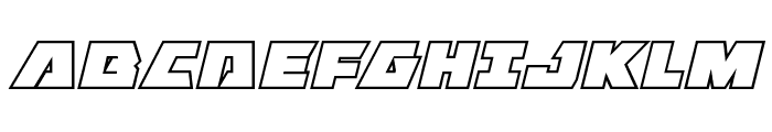 Eagle Strike Bold Outline Italic Font UPPERCASE