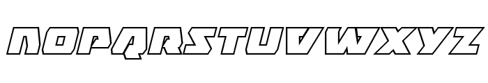 Eagle Strike Bold Outline Italic Font LOWERCASE