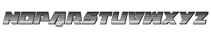 Eagle Strike Chrome Italic Font UPPERCASE