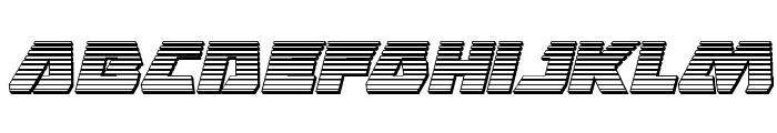 Eagle Strike Chrome Italic Font LOWERCASE