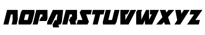 Eagle Strike Condensed Italic Font LOWERCASE