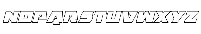 Eagle Strike Outline Italic Font UPPERCASE
