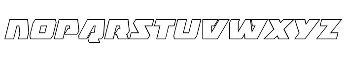 Eagle Strike Outline Italic Font LOWERCASE