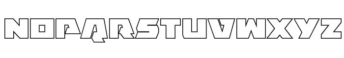 Eagle Strike Outline Font UPPERCASE