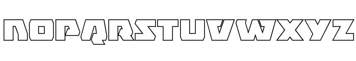 Eagle Strike Outline Font LOWERCASE
