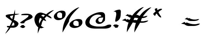 Eagleclaw Expanded Font OTHER CHARS