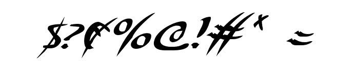 Eagleclaw Italic Font OTHER CHARS