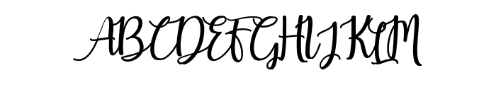 Earcy Day Font UPPERCASE