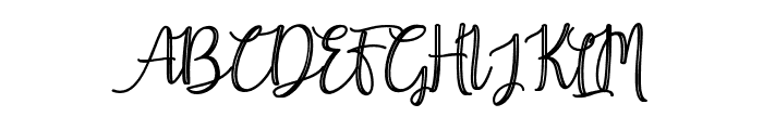 Earcy Night Font UPPERCASE