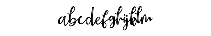 Earcy Night Font LOWERCASE