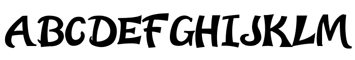 Early Halloween Adventures Font UPPERCASE