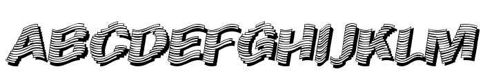 Early Tickertape Font UPPERCASE