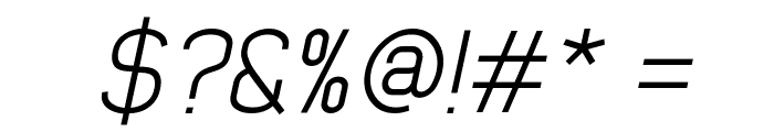 Early Times Light Demo Italic Font OTHER CHARS