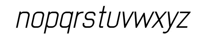 Early Times Light Demo Italic Font LOWERCASE