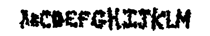 EarlyScare Font LOWERCASE