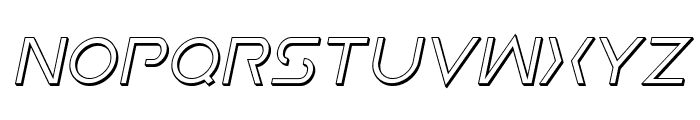 Earth Orbiter 3D Italic Font UPPERCASE