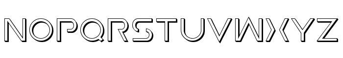 Earth Orbiter 3D Font UPPERCASE