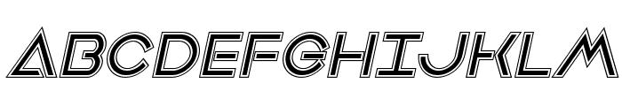 Earth Orbiter Academy Italic Font UPPERCASE
