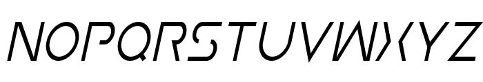 Earth Orbiter Condensed Italic Font UPPERCASE
