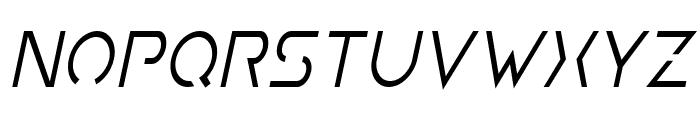 Earth Orbiter Condensed Italic Font LOWERCASE