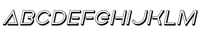 Earth Orbiter Deep 3D Italic Font LOWERCASE