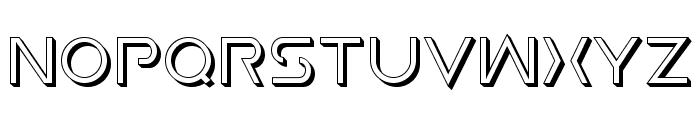 Earth Orbiter Deep 3D Font UPPERCASE