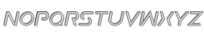 Earth Orbiter Engraved Italic Font UPPERCASE