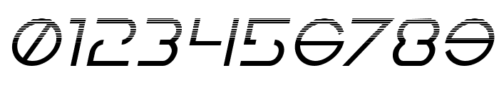 Earth Orbiter Halftone Italic Font OTHER CHARS