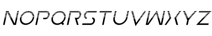 Earth Orbiter Halftone Italic Font UPPERCASE