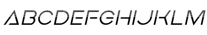 Earth Orbiter Halftone Italic Font LOWERCASE