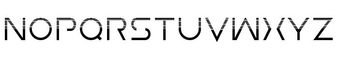Earth Orbiter Halftone Font UPPERCASE