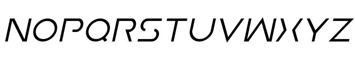 Earth Orbiter Italic Font UPPERCASE