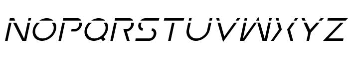 Earth Orbiter Laser Italic Font UPPERCASE
