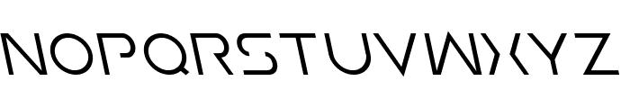 Earth Orbiter Leftalic Font UPPERCASE
