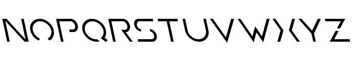 Earth Orbiter Leftalic Font LOWERCASE