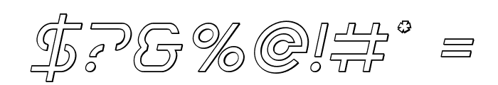 Earth Orbiter Outline Italic Font OTHER CHARS
