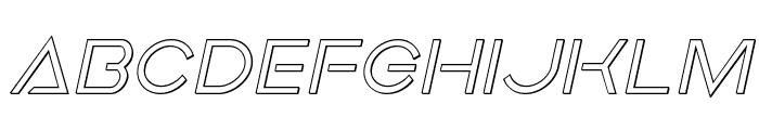 Earth Orbiter Outline Italic Font LOWERCASE