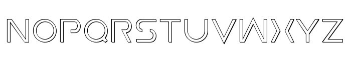 Earth Orbiter Outline Font UPPERCASE