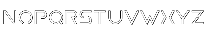 Earth Orbiter Outline Font LOWERCASE