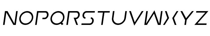 Earth Orbiter Semi-Italic Font UPPERCASE