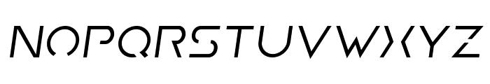 Earth Orbiter Semi-Italic Font LOWERCASE