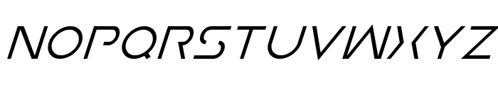 Earth Orbiter Super-Italic Font UPPERCASE