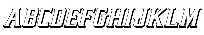 Earthrealm 3D Italic Font UPPERCASE