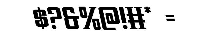 Earthrealm Leftalic Font OTHER CHARS