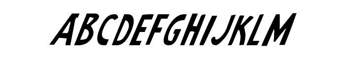 Earth's Mightiest Italic Font UPPERCASE