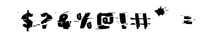 Earthshake Expanded Font OTHER CHARS