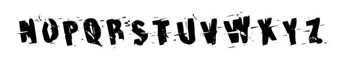 Earthshake Rotated Font UPPERCASE