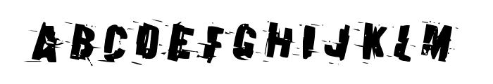 Earthshake Rotated Font LOWERCASE